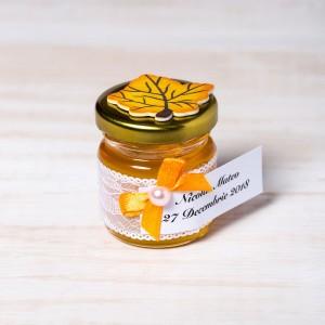 Marturii botez borcanele miere si frunza