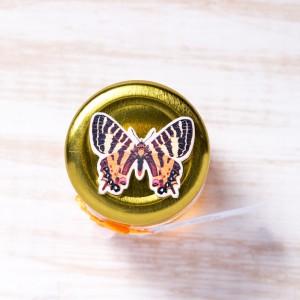 Marturii botez borcanele miere cu fluture colorat