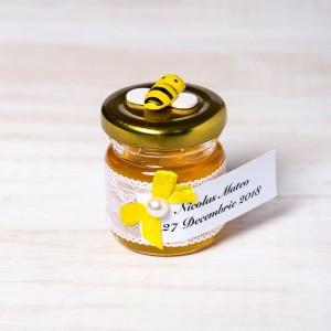 Marturii botez borcanele miere cu albinuta
