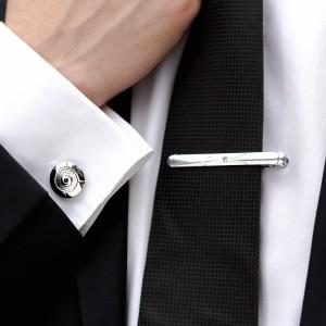 Set butoni camasa rotunzi si ac cravata
