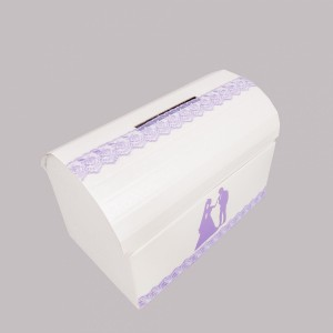 Cufar dar nunta cu dantela lila