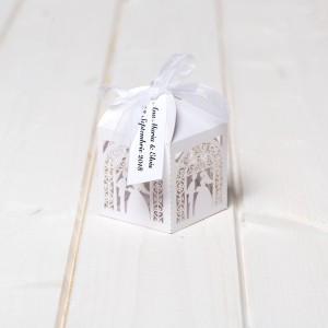Marturii nunta cutiute albe miri