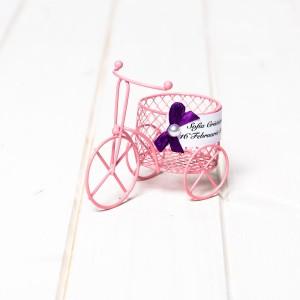 Marturii nunta biciclete din sarma roz