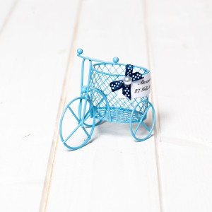 Marturii nunta biciclete din sarma bleu