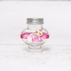Sticluta de mir inima cu figurina GIRL