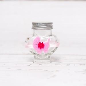 Sticluta de mir inima cu carucior roz