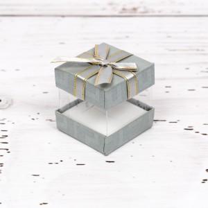 Cutiuta verighete nunta cu fundita argintie