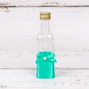 Sticluta de mir cu decor verde menta