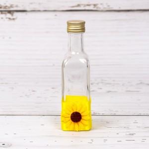 Sticluta de mir cu decor floarea-soarelui