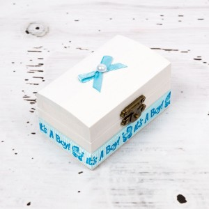 Cutiuta mot botez decor bleu It s a boy
