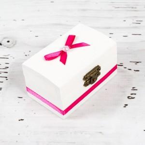 Cutiuta mot botez decor roz fucsia