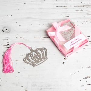 Marturii nunta semn carte coroana regala roz