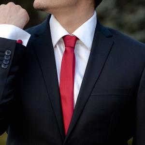 Set bordo cravata slim si butoni