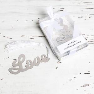 Marturii de nunta semn de carte Love