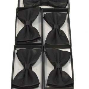 Set 5 papioane negru satinat pentru cavaleri onoare