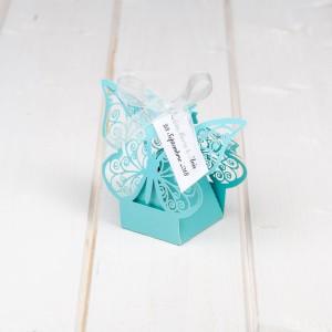 Marturii nunta cutiute fluture bleu