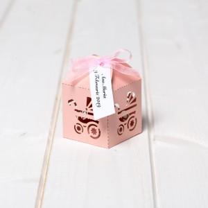 Marturii botez cutiute carucior roz
