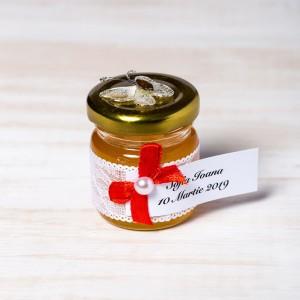 Marturii borcanele miere botez fluture alb