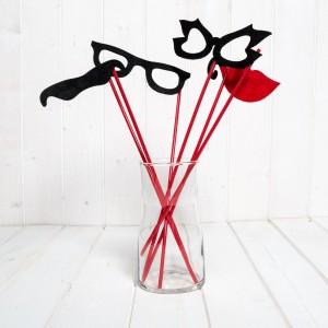 Set funny petrecere mustati, ochelari, buze
